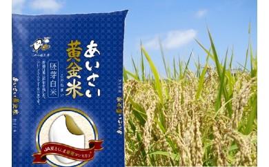 【10-3】あいさい黄金米(胚芽白米 計6kg)