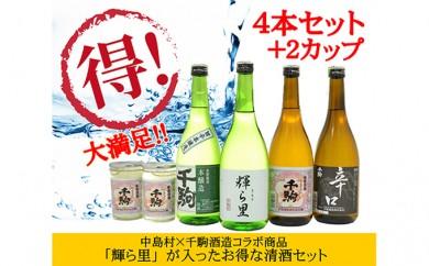 [№5991-0240]中島村オリジナルブランド 清酒『輝ら里』と飲み比べ満足セット
