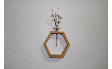 壁掛け花飾り(六角形)