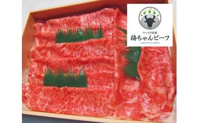 No.112 ワールド牧場 梅ちゃんビーフ 特選 黒毛和牛 しゃぶしゃぶ用肉 約450g