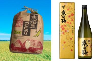 【F2902】魚沼産コシヒカリ&純米吟醸酒セット
