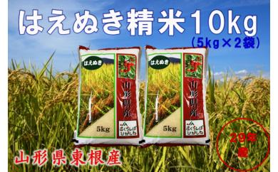 A-264 29年産_東根産米「はえぬき精米」5kg×2(30年5月下半期送付分)