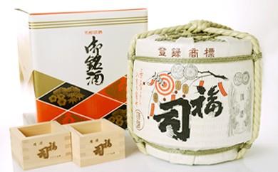 [Ku101-Q002]釧路福司菰樽(3.6ℓ)と釧路福司木枡2個セット