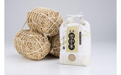 【10-58】30年産先行予約!雪中米ゆめぴりか【玄米】10kg