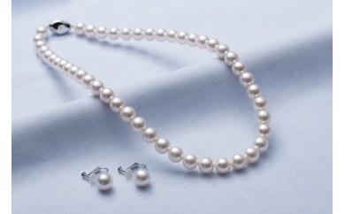 真珠品評会入賞常連のオーハタパールが作る海の宝石 アコヤ真珠ネックレス・イヤリングセット