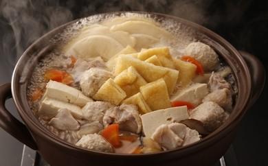 青森地鶏「青森シャモロック」×せんべい汁セット