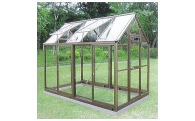 (908)アルミ製ガラス温室 チャッピー B1.5型 1.5坪