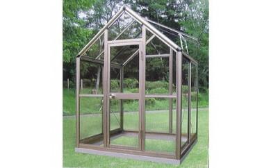 (910)アルミ製ガラス温室 チャッピー B1型 1坪