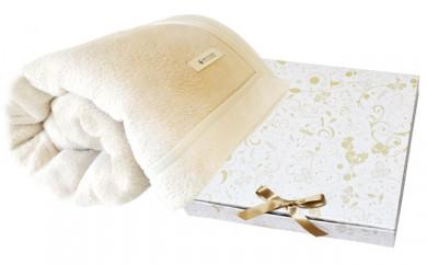 C150 シルク混毛布シングルサイズ雪音 クリーム