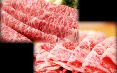 [№5761-0193]【肉の博明】田子牛特上すきやき用サーロイン400gリブロース400g