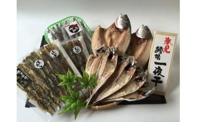 [№5684-1221]氷見産きときと魚一夜干し!あじ・こずくら・みぎすと味醂干3種詰合せ
