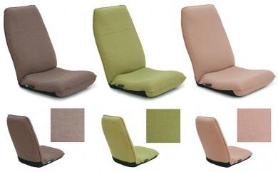 [№5673-0098]腰に優しいレバー式ハイバッグ座椅子(カラ:ブラウン、ベージュ、グリーン 3種)