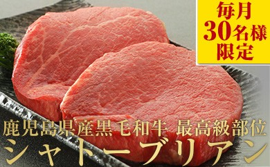 【No245】超希少!A4等級黒毛和牛シャトーブリアン 100g×8枚