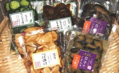 [№5533-0039]海津 なすびや特選漬物セットと海津産野菜