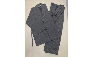 E113刺子柄作務衣(茶/Mサイズ・Lサイズ)