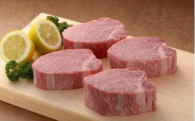 SS014 【希少部位フィレステーキ全8回定期便♪総計 11.52kg】九州産黒毛和牛ヒレステーキ180g×8枚を毎月お届けします