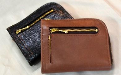 L-1 L型ハーフサイズ財布(茶)