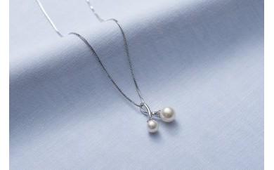 AF105 真珠品評会入賞常連のオーハタパールが作る海の宝石 アコヤ真珠シルバーペンダント(スライド式)【40,000pt】
