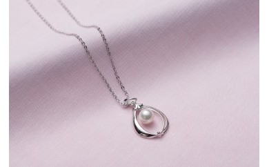 AF102 真珠品評会入賞常連のオーハタパールが作る海の宝石 アコヤ真珠シルバーペンダント(40cm)【20,000pt】