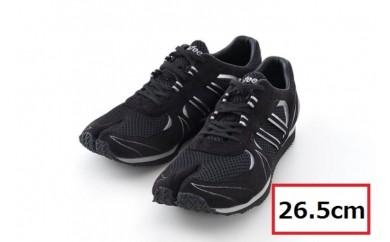 BS78 【26.5cm】走りに特化した足袋型ランニングシューズ「Zipang」ブラック/シルバー