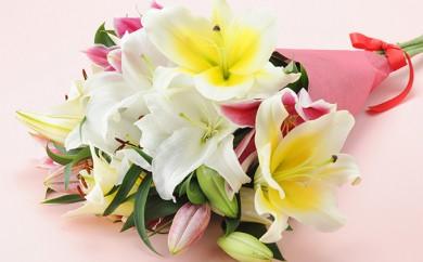 [№5719-0103]ユリの花束ギフト
