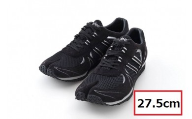 BS80 【27.5cm】走りに特化した足袋型ランニングシューズ「Zipang」ブラック/シルバー