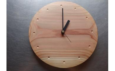 【E10】Wooden clock 木の時計(秋田杉)