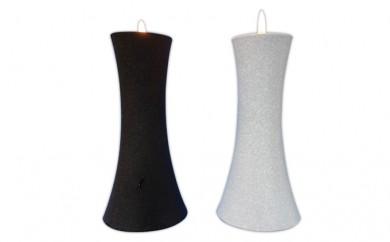 [№5922-0293]相模製作所 セーフティキャンドルスタンド白黒セット6.5×13cm