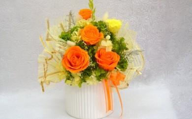 O-2 花器アレンジメントMサイズ(オレンジ)