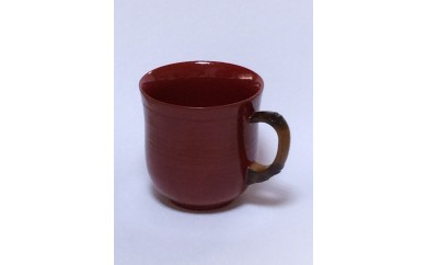 B30-652 竹塗コーヒーカップ(赤)