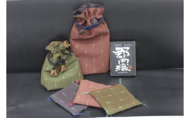 【Bコース】郡内織コースター・巾着セット