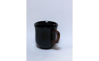 B30-653 竹塗コーヒーカップ(黒)