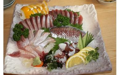 [001015]宿毛湾産 旬の地魚(3種)お造りセット(3~4人前)