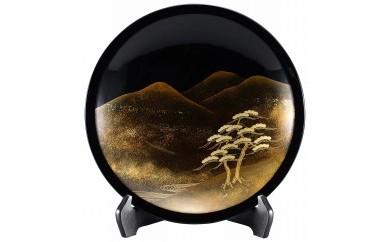 輪島塗 飾皿(遠山に松蒔絵)
