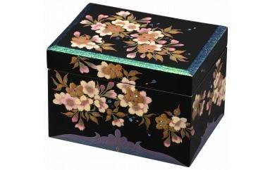 輪島塗 宝石箱(玉虫張桜蒔絵)