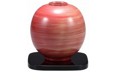 輪島塗 球型花器(紅白)