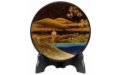 輪島塗 飾皿(春蒔絵)