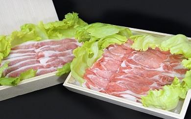 No.109 坂東市産 豚ロース薄切り・焼肉用セット 約900g