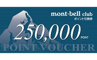 【AA07】モンベルポイント・バウチャー250,000Pt【2500pt】
