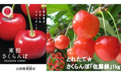 A-314 ☆とれたて☆さくらんぼ「佐藤錦」1kgばら詰め(平成30年産)