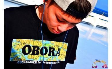 286 TOKUNOSHIMA発ブランド OBORA Tシャツ ふるさと納税限定デザイン 【島バナナ】