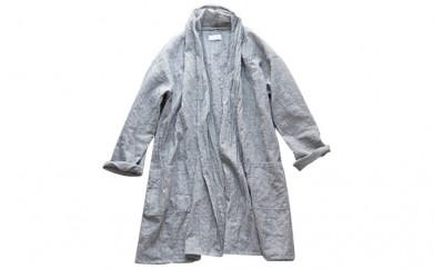 [№5786-1804]HUIS遠州織物ウォッシャブルウールロングカーディガン・灰