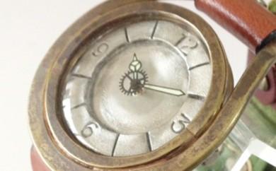 [№5895-0097]HR24の手造り時計A(男女兼用)オリーブ