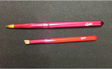 化粧筆 カープリップブラシ、アイブロウブラシセット