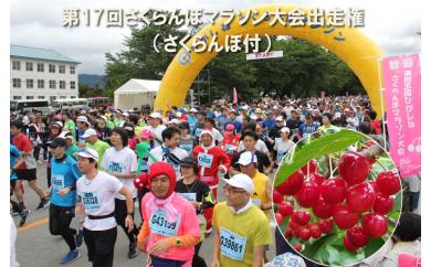 A-302 第17回果樹王国ひがしねさくらんぼマラソン大会出走権1名様分(さくらんぼ1kg付)