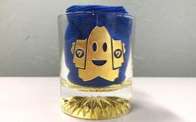 [№5706-0076]城山の金さん手彫りグラス
