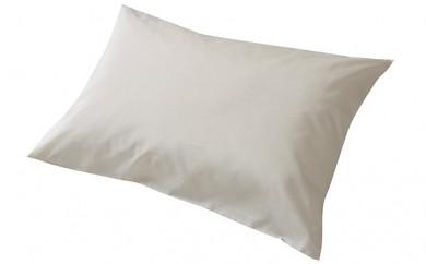 [№5805-1869]羽根枕 紅花染め絹交織枕カバー付き(43×63cm)