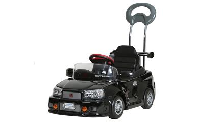 859 子育て応援企画!日本製「スカイラインGT-R R34」押手付ペダルカー【対象年齢1.5歳-4歳】