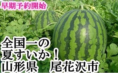 【平成30年産】尾花沢すいか5Lサイズ2個