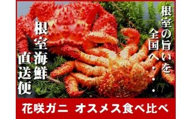 CA-70003 【北海道根室産】茹でたてお試し花咲ガニオスメス食べ比べ[358653]